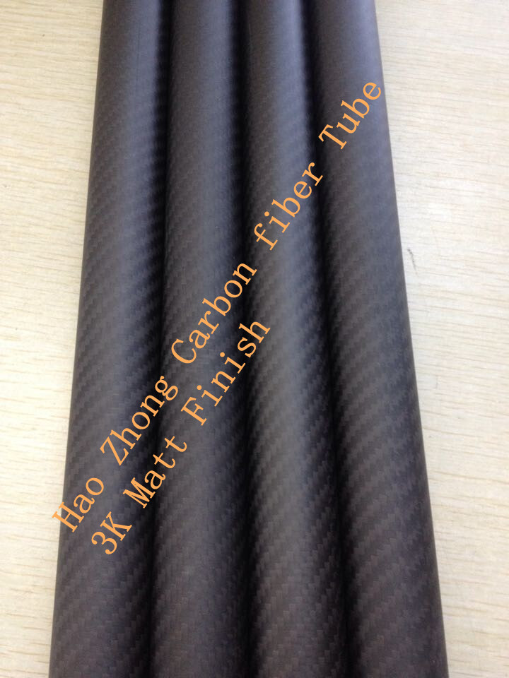 ФОТО 3K Matte 27m x 30mm x1000mm (1 m) Long 100% Roll 3k Carbon Fiber tube / Tubing/ wing tube Quadcopter arm Model DIY 30*27