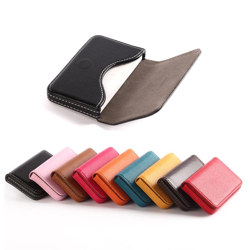 BONAMIE Большой Вместительный чехол унисекс для визиток, сумка для ID, женская сумка из искусственной кожи, коробка для карт, Мужская кредитница,...