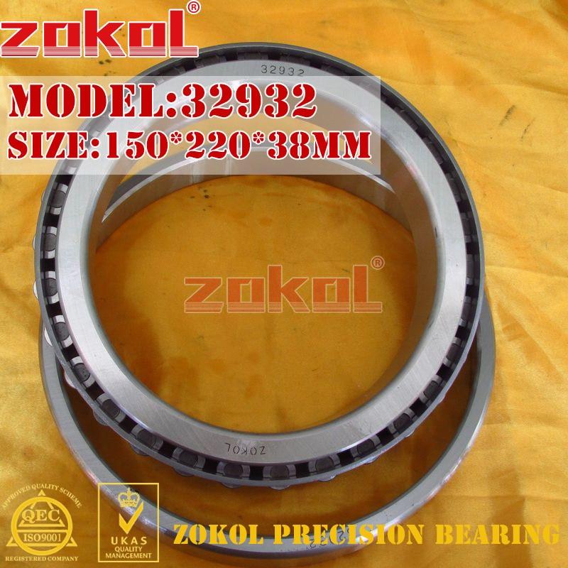ZOKOL bearing 32932 2007932E Tapered Roller Bearing 150*220*38mm zokol bearing 31310 27310e tapered roller bearing 50 110 29 5mm