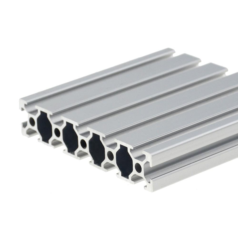 1PC 20100 Aluminum Profile Extrusion 100-800mm Length European Standard Anodized Linear Rail For DIY CNC 3D Printer Workbench