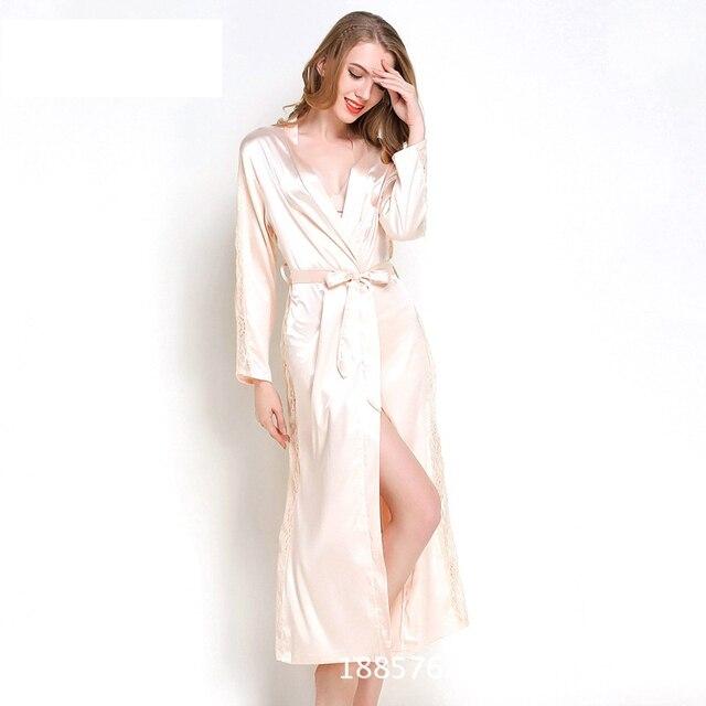 satin bath bride robe kimono robes for women female silk pyjamas