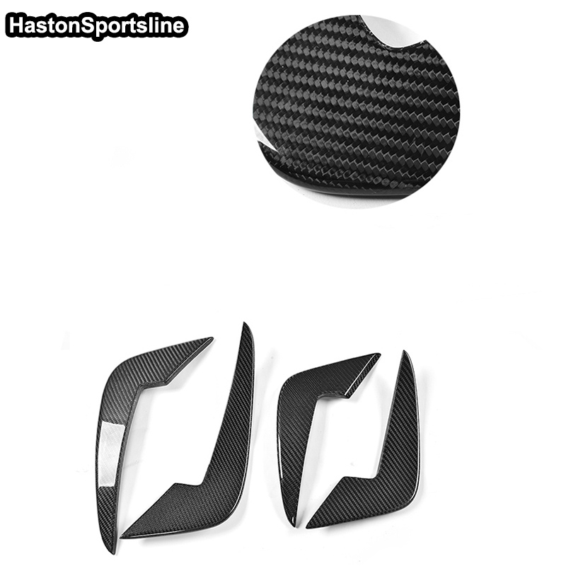 Car Accessories For BMW F87 M2 Front Side Air Vent Carbon Fiber Front Bumper Fins Trims Decoration 2016~2018-in Body Kits from Automobiles & Motorcycles    2