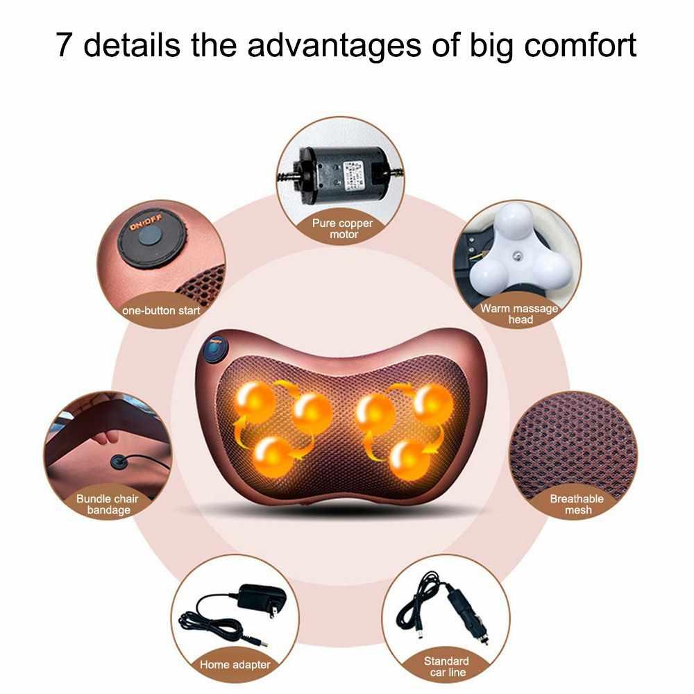 リラクゼーションマッサージ枕バイブレーター電気ショルダーバック指圧加熱混練赤外線療法枕クッションマッサージ