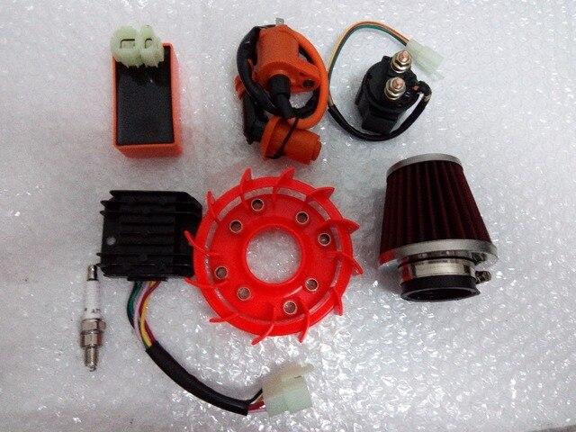 139 QMB 152 qmi 157 QMJ high-performance COOL FAN + 4 big appliances + spark plug + 38 mm FILTER ELEMENT GY6 50, 125, 150 cc