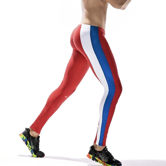80b81d7d9 New Gym Compression Bodybuilding Pantalones Hombre Fitness Tights Trousers  Sweat Pants For Men Sport Running Leggings