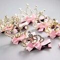 1 pc Princesa Tiaras Arco Headwear Hairpin Meninas grampos de Cabelo Da Coroa Do Partido acessórios para o Cabelo Crianças Moda Pedra Grampos de Strass
