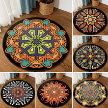 American national vintage ethnic totem mandala round carpet Non-slip Balcony coffee table hanging basket home decoration mat