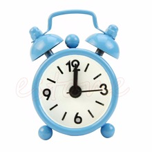 Popular Mini Lovely Cartoon Alarm Clocks Dial Number Round Desk Alarm Clock For Kid House Decoration Snooze Function Clocks