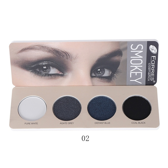 New 4 Color Eye Shadow Waterproof Smudge-proof Colorfast Eyeshadow Palette Beauty Makeup Cosmetic 2