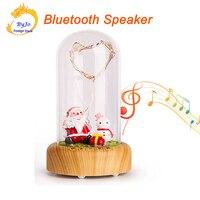 Christmas Gift Bluetooth Speaker LED Wishing Speaker Streaming Bottle Music Santa Claus Eteral Flower Portable Stereo Bass