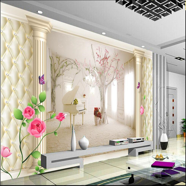 custom photo wall mural wallpaper3d luxury quality hd soft case roman piano extending space