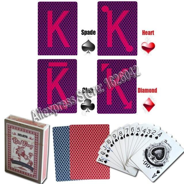 Невидимый Карточные игры для перспектива Очки Волшебные трюки XF bin Ван бренд Бумага анти покер обманывают Magic отмечены Liquor & Poker