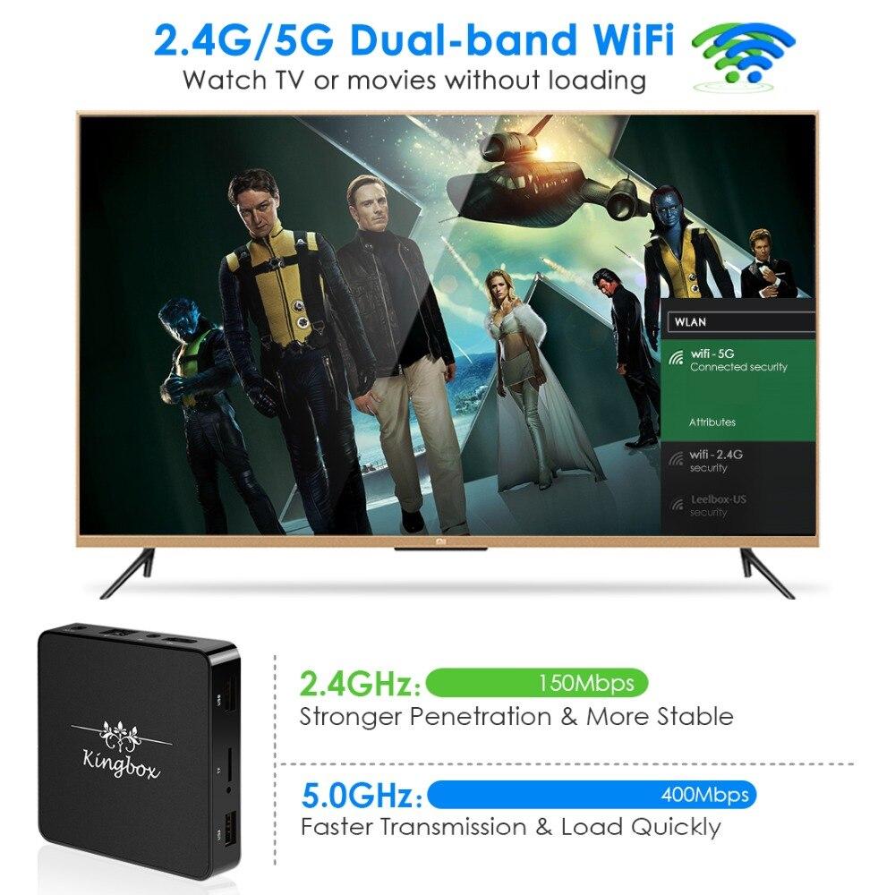 Newest Kingbox Android 8 1 TV Box 2 4G 5G Dual Wifi 2GB RAM 16GB ROM