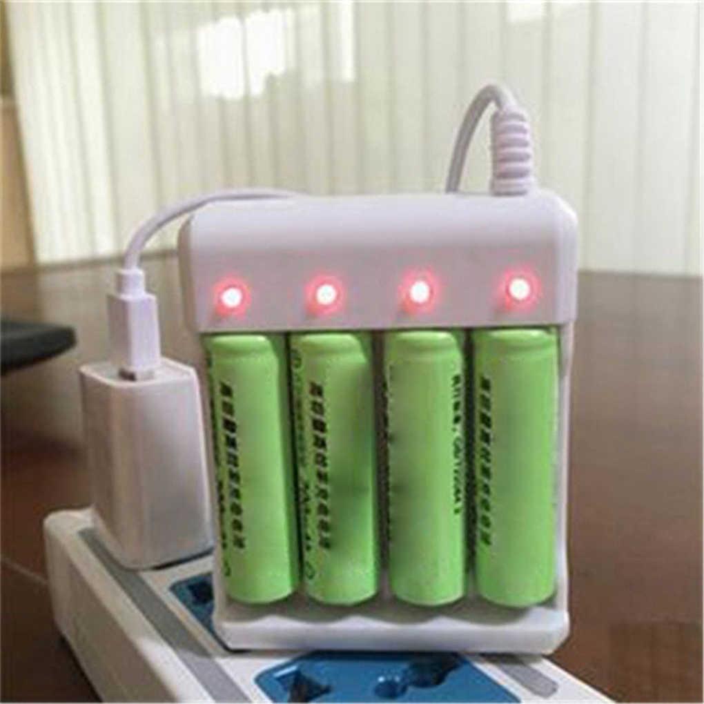 Baru USB Universal Baterai 4 Slot Baterai Pengisian Cepat Charger Perlindungan Sirkuit Pendek Aaa dan AA Baterai Isi Ulang Stasiun
