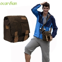 Activing New Professional Waterproof Canvas Camera Bag Messenger Shoulder Camping Gadget Bag Backpack With Shockproof Ins