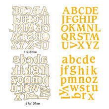 A-Z Uppercase Alphabet Metal Cutting Dies Lowercase Letter Scrapbooking Cut Dies DIY Decor New Year Stencil Craft Card Template(China)