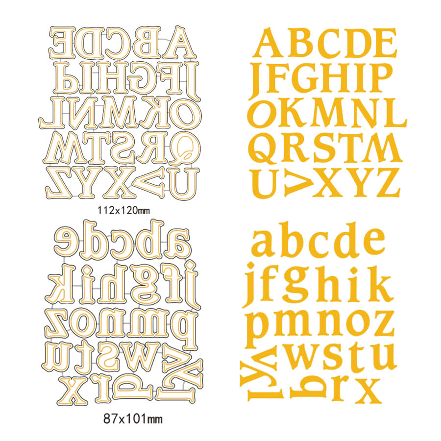 Alphabet Letter A-Z Cutting Dies Stencil DIY Scrapbooking Paper Card Craft HM