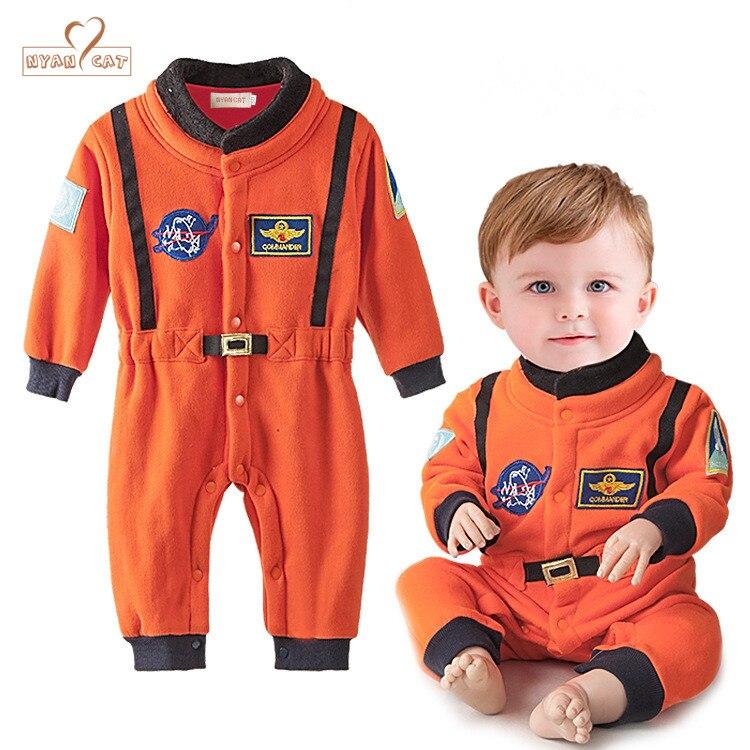 все цены на Nyan Cat Baby Boys  Astronaut Costumes Infant Halloween Costume for Toddler Boys Kids Space Suit Jumpsuit infantil fantasia