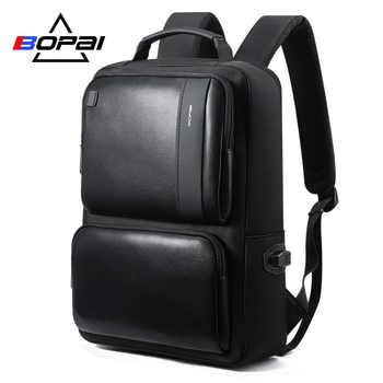 BOPAI Mochilas Korean Style 15.6 inch Laptop Backpack USB Charge 14 inch Waterproof Men Backpack Travel Backpack Black Bagpack - DISCOUNT ITEM  59% OFF Luggage & Bags