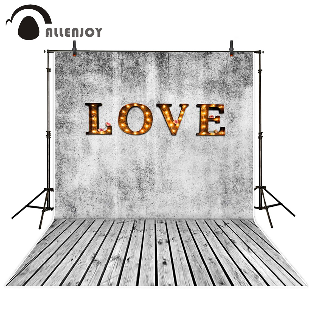 Allenjoy 300x200cm(6.5ftx10ft) Photo Background wood love wedding Photography backdrops Studio For Interior Photos Custom size allenjoy photography backdrops book shelf in library graduation season background for photo studio