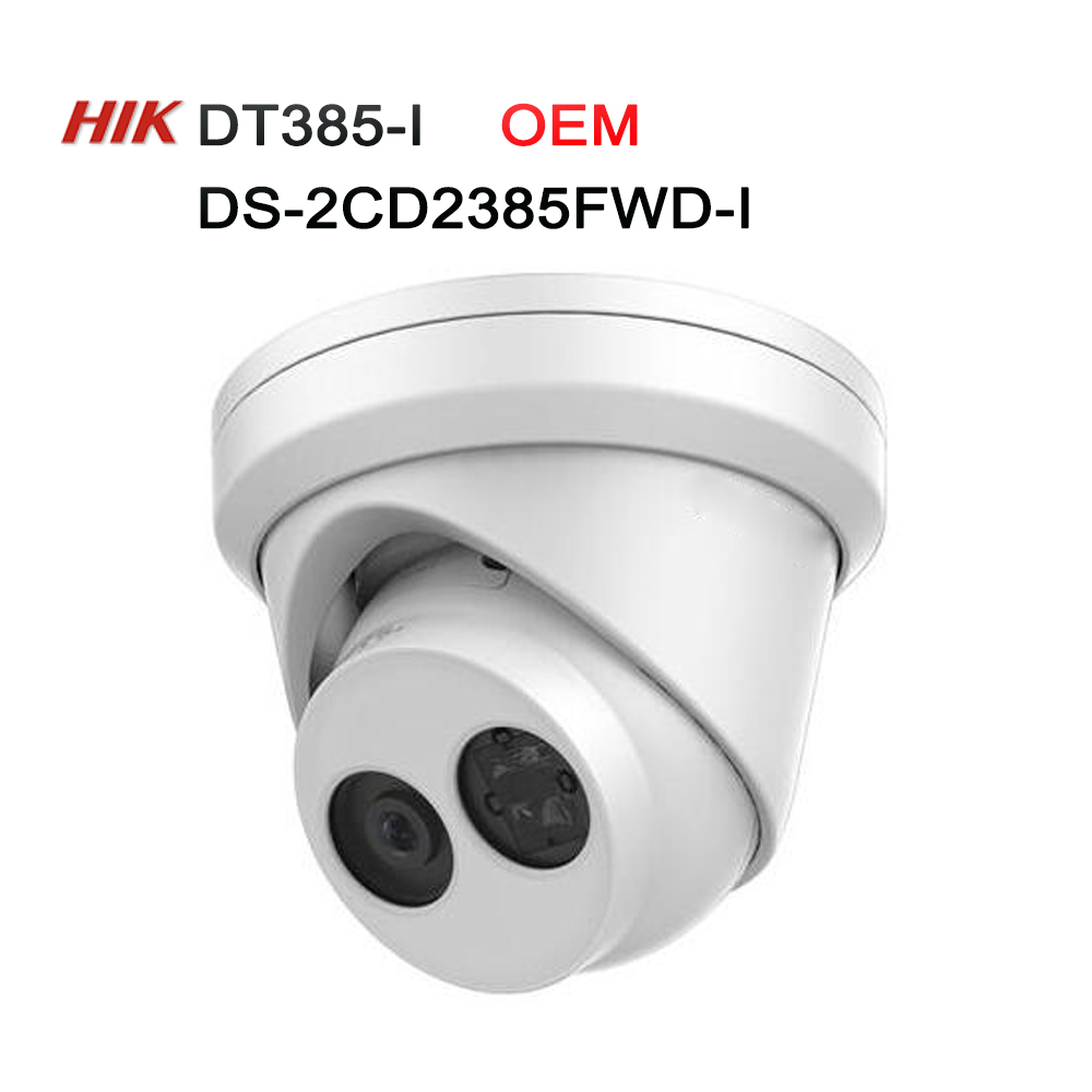 Hikvision DS-2CD2385FWD-I OEM model DT385-I 8MP Network Turret Camera POE IR H.265+ 8mp WDR Camera H265 IP CCTV Camera 4pcs/lot hikvision original international h 265 8mp mini outdoor ip camera ds 2cd2085fwd i 4k bullet cctv camera poe onvif ip67 ir 30m