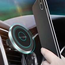 360 Degree Rotatable QI Wireless Fast Charger Car Phone Mount Holder USB Magnetic For iPhone XS Max XR X 8 8 Plus(China)
