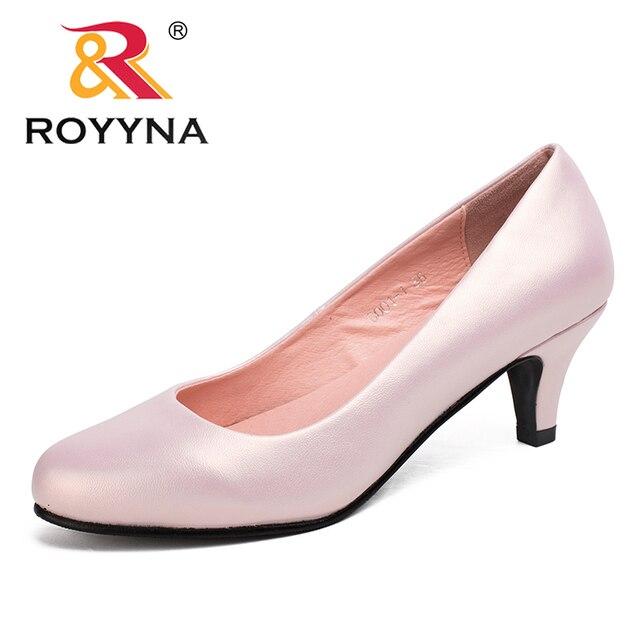 Royyna sapato feminino tamanho grande, sapato feminino estilo nova moda primavera e outono de tamanho grande, sexy, dedo do pé redondo, cores macio e colorido, frete grátis
