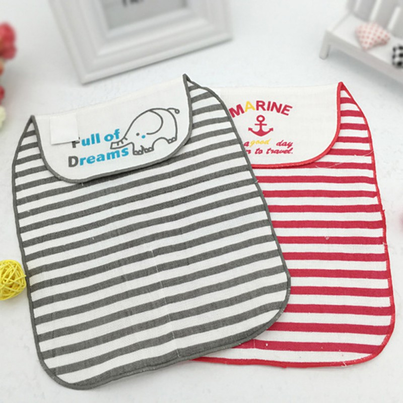 Cotton Baby Wicking Towel Absorb Sweat Back Towel Perspiration Wipes Reusable Cartoon Pattern Towel Z31