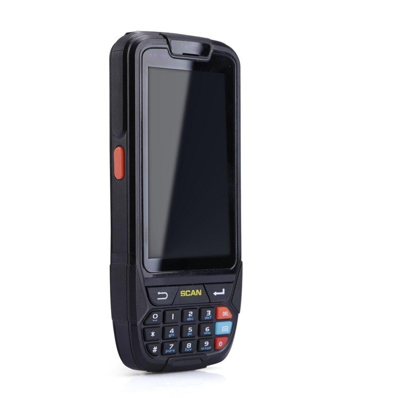 Бесплатная доставка КПК 2D портативный терминал Поддержка Wi Fi Bluetooth 4 г GPS Камера мини сканер штрих кода для Android Tablet PC клавиатура