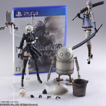 цена на NieR Automata YoRHa No. 2 Type B figma 2B Machine Lifeform Kaine Nier action figure doll model toy T30