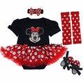 Baby girl set de ropa 2017 ropa de la historieta de minnie mickey ropa infantil de la muchacha con volantes tutu dress menina roupa infantil recién nacidos
