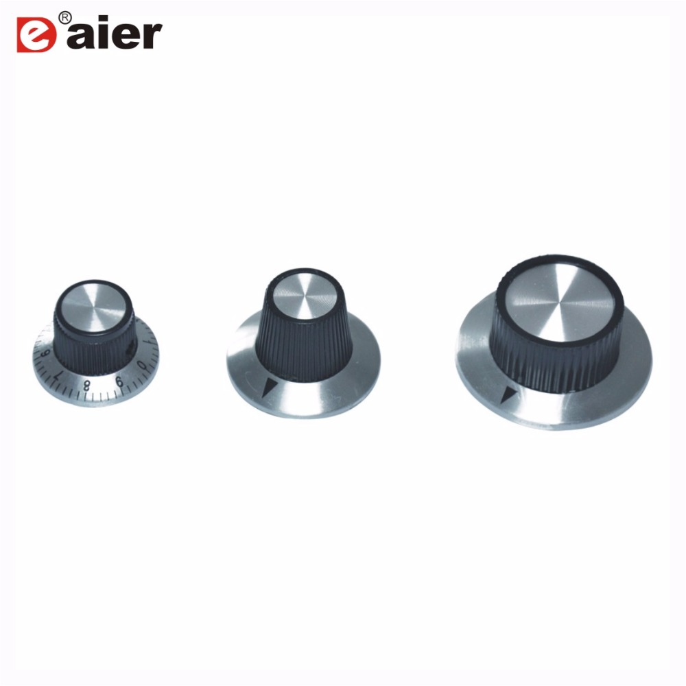 uxcell 5pcs 6.4mm Shaft Hole Potentiometer Volume Control Rotary Knobs Effect Pedal Knobs Black