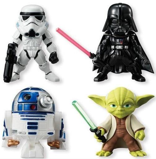 4pcs/lot Star Wars Stormtrooper Darth Vader R2D2 PVC