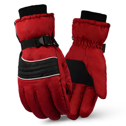 man winter warm thick gloves with cuff red black yellow army green hunting gloves fishing climbing montain hiking camping gloves