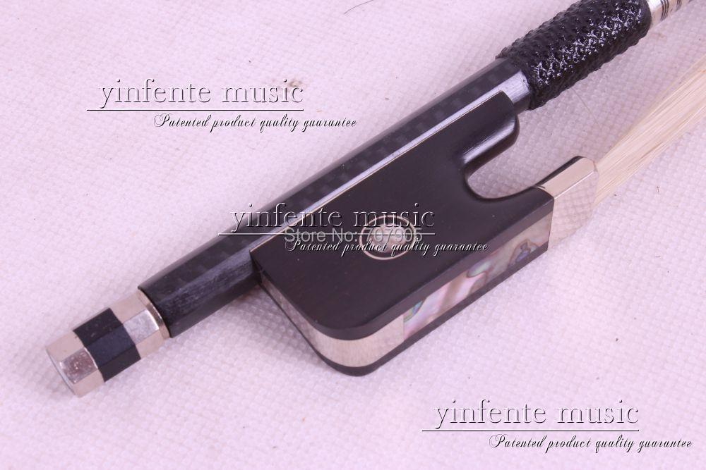 3/4 Cello Bow Carbon fiber Round Stick Ebony fro g High Quality New #DT-041  1 2 cello bow carbon fiber round stick ebony f rog high quality new 36