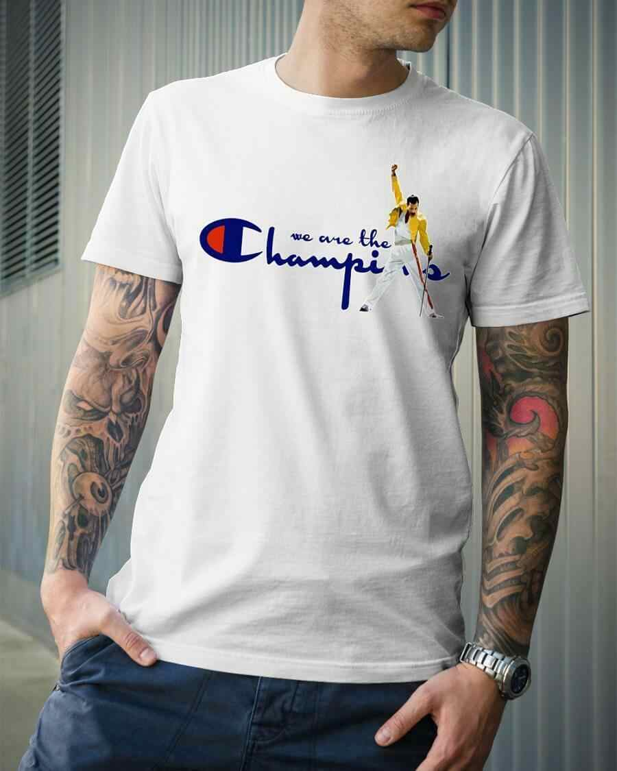 74f59b271755 Queen Freddie Mercury We are the Champions T-Shirt 9 colours t-shirt