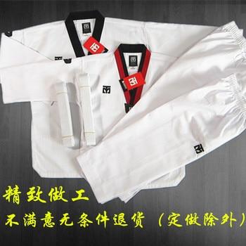 MOOTO-uniforme básico de Taekwondo, WTF, Dobok, 3 líneas, materiales para niños y adultos
