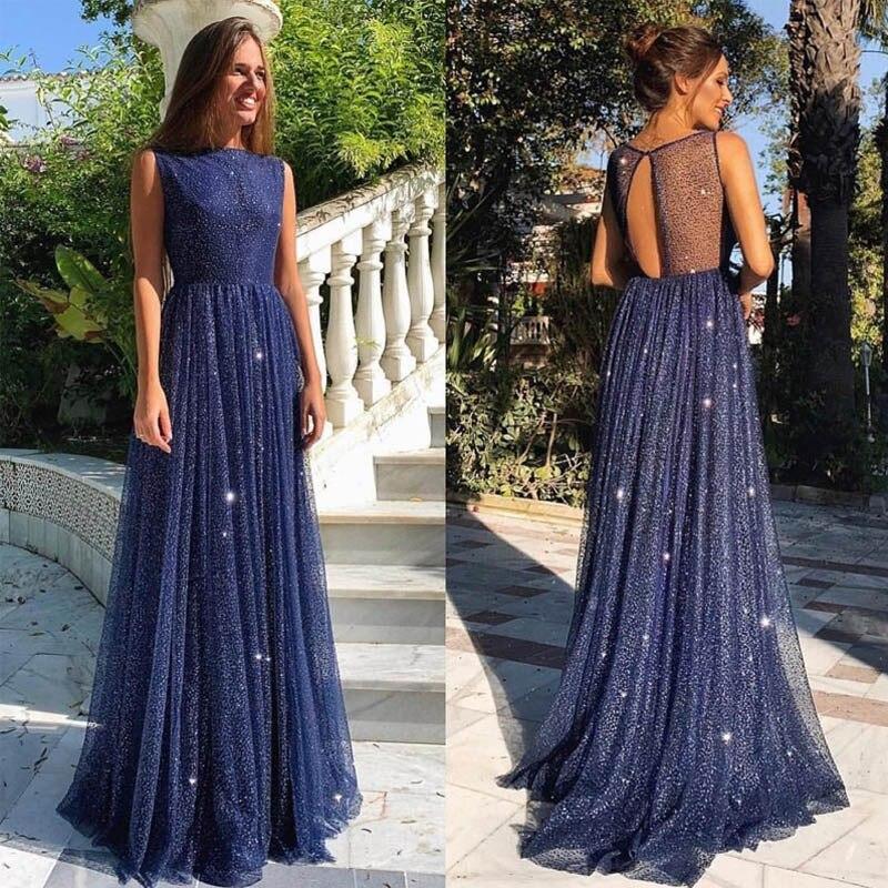 Robe d'été 2019 robe longue femme boho vintage robe dos nu élégante maille paillettes à pois sequin maxi robes pour les femmes
