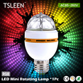 TD +Cheap+ NEW E27 3W Colorful Auto Rotating lampada 85-260V Bulb Stage Light Party Lamp Disco MIni RGB LED Nightlight # TSLEEN