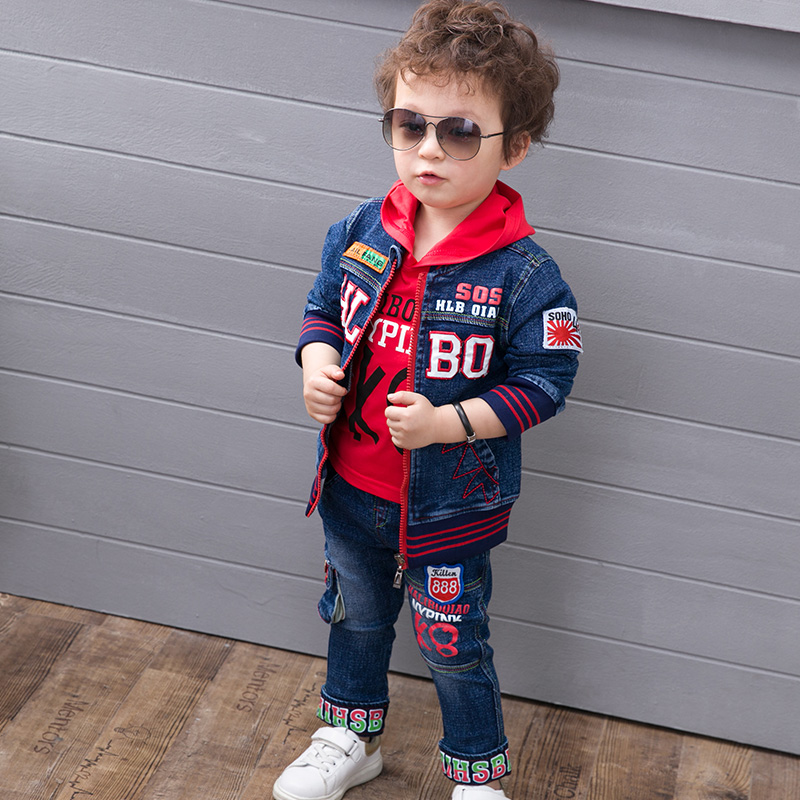 boys clothes sets 2017 new spring style infant clothing baby boy clothing sets cotton fashion long sleeve 3 piece suit jackets  new brand 2pcs ofcs baby boy sets cotton spring