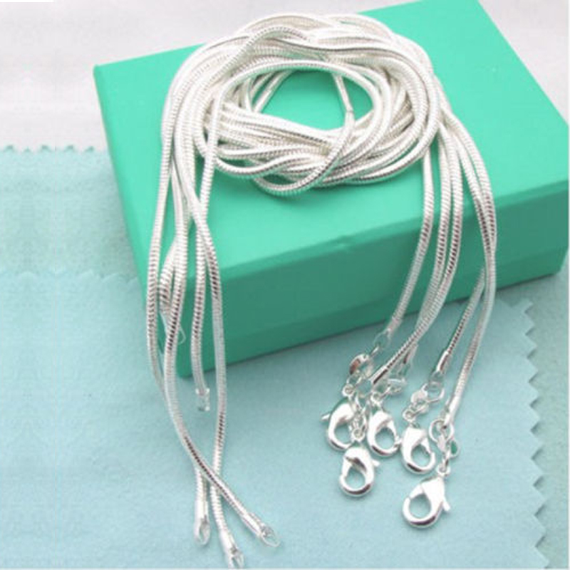 Fashion lots 5pcs 1mm snake chain Necklace Jewelry Gifts 16-30inch Jewelly