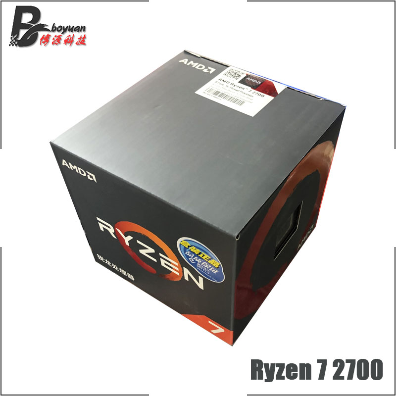 Image 2 - AMD Ryzen 7 2700 R7 2700 3.2 GHz Eight Core Sinteen Thread CPU Processor L3=16M 65W YD2700BBM88AF Socket AM4 New and with fan-in CPUs from Computer & Office