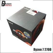 AMD Ryzen 7 2700 R7 2700 3.2 GHz ośmiordzeniowy szesnastogwintowy procesor CPU L3 = 16M 65W YD2700BBM88AF gniazdo AM4 nowe i z wentylatorem