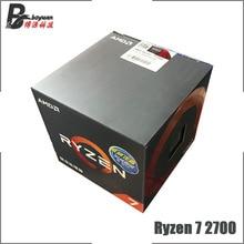AMD Ryzen 7 2700 R7 2700 3.2 GHz ثماني النواة ستة عشر موضوع معالج وحدة المعالجة المركزية L3 = 16 متر 65 واط YD2700BBM88AF المقبس AM4 جديد ومع مروحة