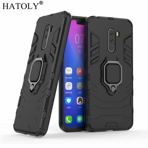 For Xiaomi Pocophone F1 Case Cover Magnetic Suction Ring Bracket Cases Silicone Hard Armor Cover Xiaomi Pocophone F1 Little F1 Islamabad