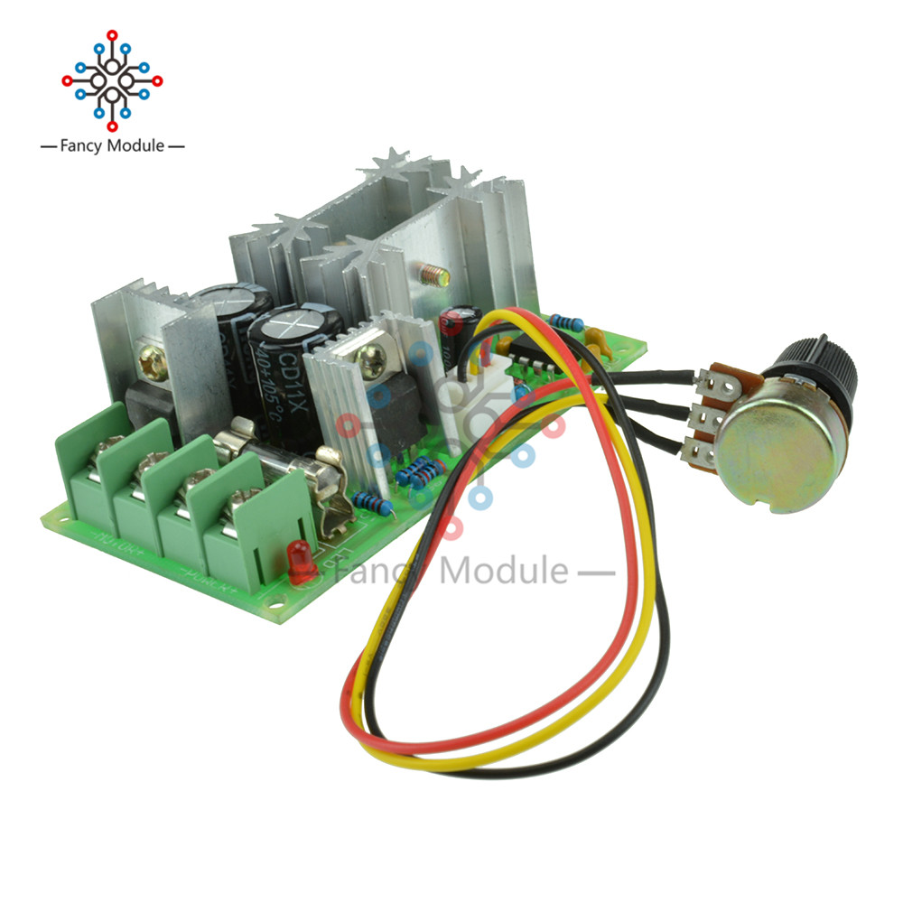 Motor Controller Dc10-60v Dc Motor Speed Regulator 12v 24v 36v 48v High Power Drive Module Pwm Motor Speed Controller 20a Current Regulator