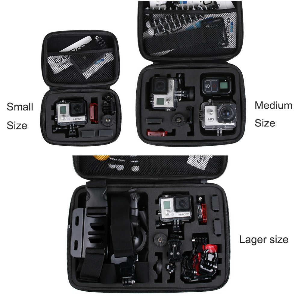 LANBEIKA для Gopro водонепроницаемый портативный чехол сумка коробка PU защита для SJCAM SJ5000 SJ4000 M20 SJ6 SJ7 Go Pro Hero 6 5 4 3 + Eken