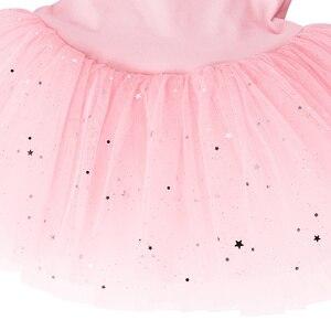 Image 4 - BAOHULU בלט שמלת טוטו קשת גדולה ריקוד בלט תלבושות ריקוד בלט טוטו ריקוד ללבוש בגדי גוף התעמלות שמלת טוטו
