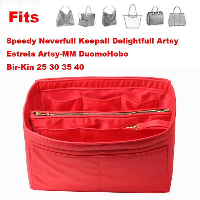 Neverfull Speedy 25 30 35 40 Purse Organizer waterproof Oxford Cloth Handbag Organizer Bag In Bag Tote w Detachable Zip Pocket in Cosmetic Bags Cases from Luggage Bags