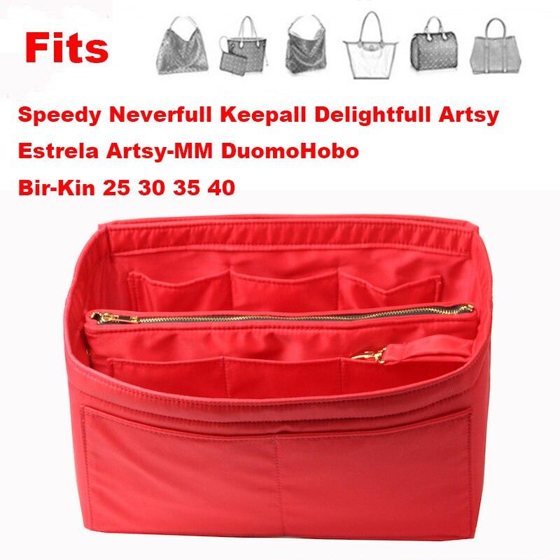 Neverfull Speedy 25 30 35 40 Purse Organizer Waterproof Oxford Cloth Handbag Organizer Bag In Bag Tote (w/Detachable Zip Pocket)